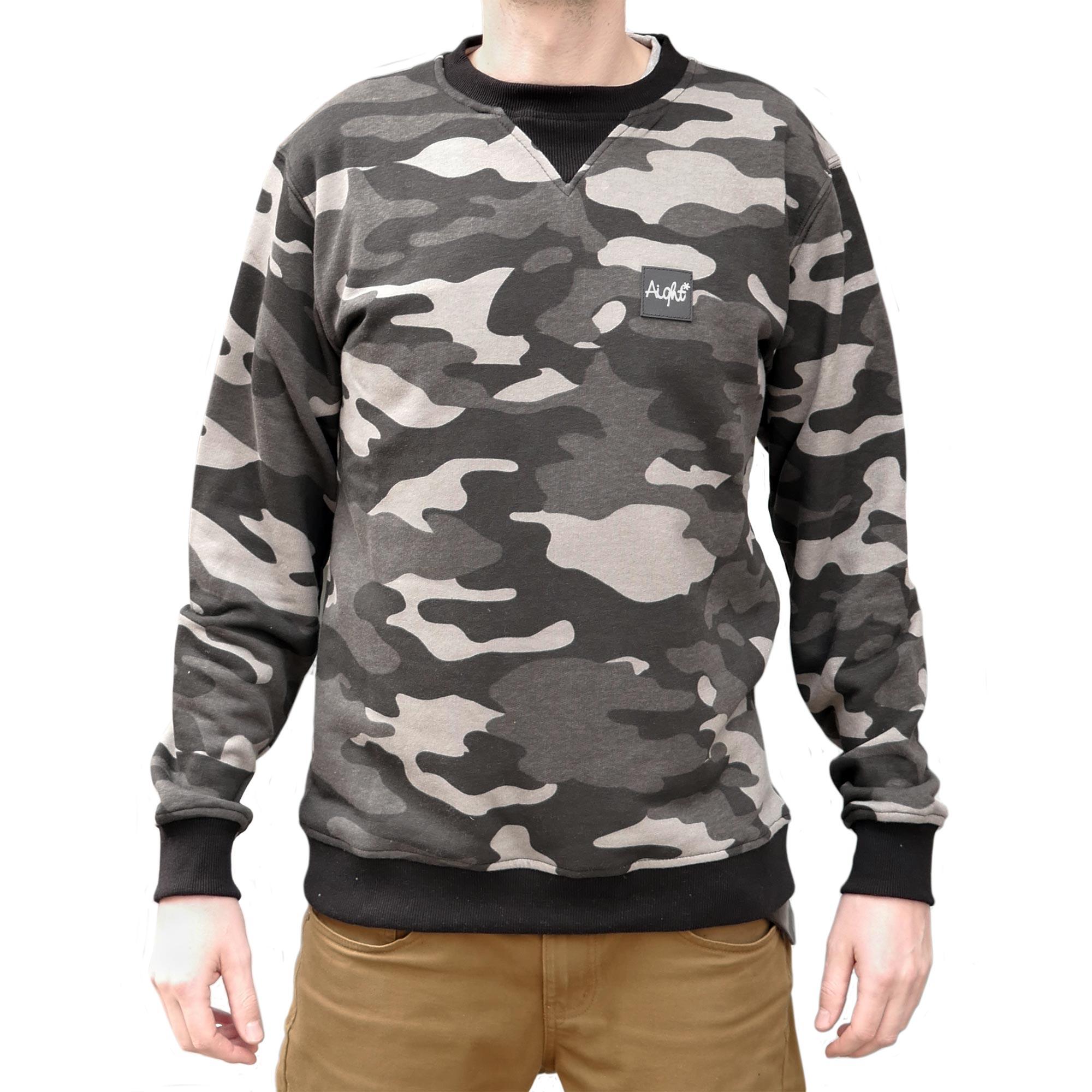Details zu Aight Evolution Sweatshirt Camo Laight